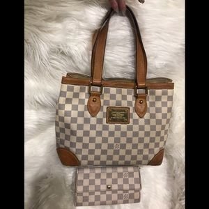 Authentic LV Hampstead & matching Wallet